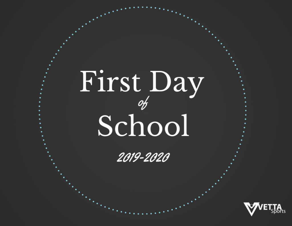 photograph relating to First Day of School Printable Sign identify Totally free Printable - 1st Working day of College or university Signal - Vetta Sporting activities